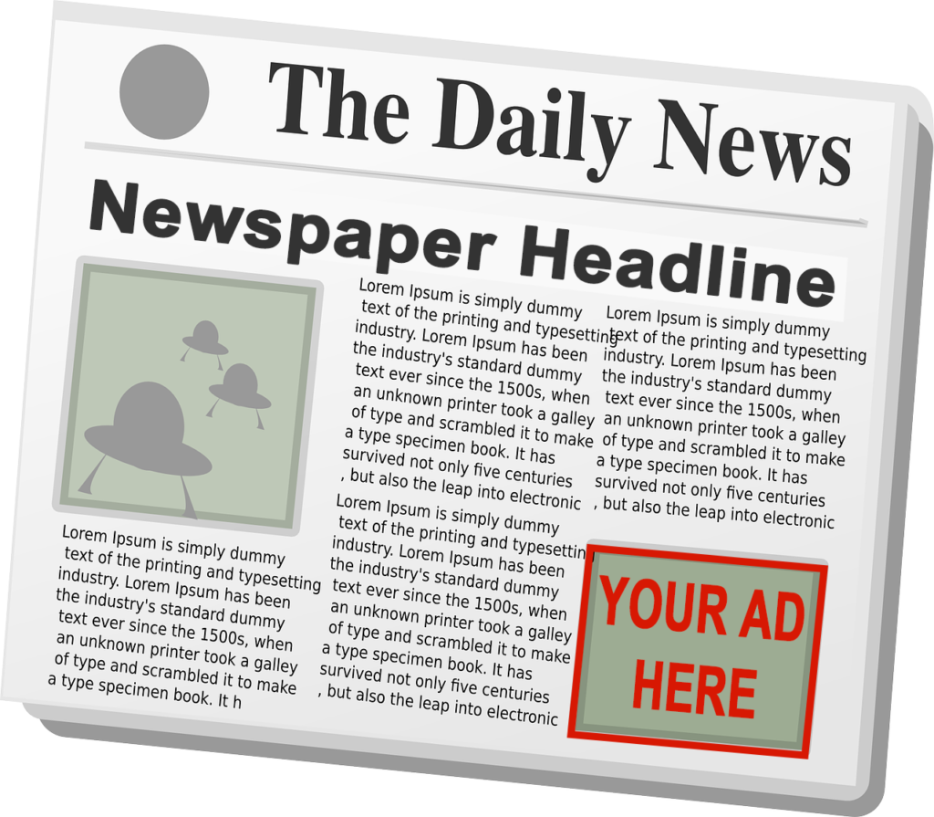 Example of content marketing in the form of print marketing